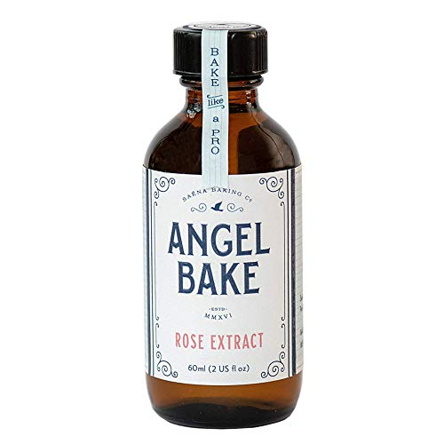 Angel Bake Pure Rose Extract - Bulgarian Rosa Damascena. 2 fl oz. Sugar Free.