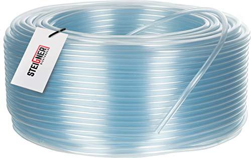 STEIGNER Benzinschlauch Wasserschlauch PVC Schlauch Transparent, Durchmesser: 4-6 mm, Länge: 10 m, SBS-02-10