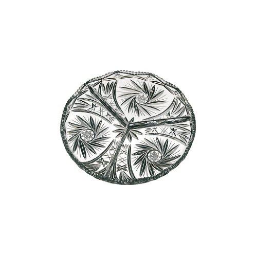 Kabarett Konfektplatte Knabberteller Marina D 23 cm Handgeschliffen Transparen Kristall