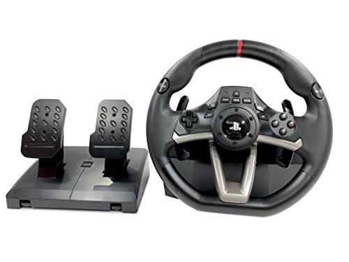 Volante e pedali PS4 originale con licenza Playstation 4 RWA Apex incl. Multi Vibration TouchSense® (PS4,PS3,PC)