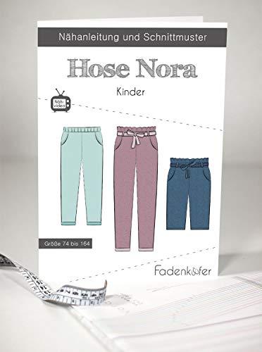 Schnittmuster Fadenkäfer Hose Nora Kinder Gr.74-164 Papierschnittmuster