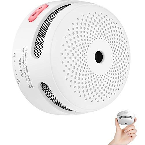 X-Sense Mini détecteur d'incendie avec 10 Ans d'autonomie, détecteur de fumée certifié TÜV et EN14604, détecteur d'incendie avec capteur photoélectrique, XS01 (Lot de 1)