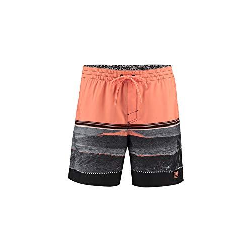 O'Neill Herren PM The Point Boardshorts, schwarz AOP W/Pink, XXL