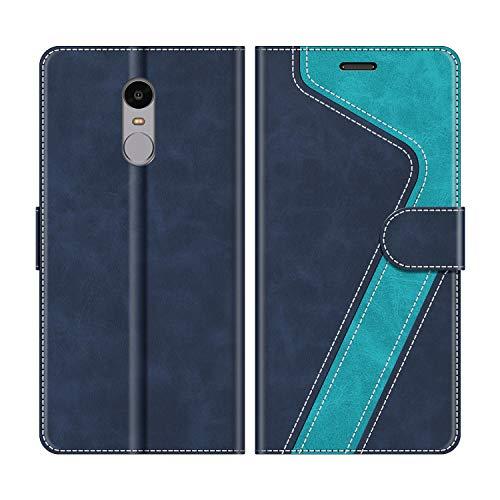 MOBESV Funda para Xiaomi Redmi Note 4, Funda Libro Xiaomi Redmi Note 4, Funda Móvil Xiaomi Redmi Note 4 Magnético Carcasa para Xiaomi Redmi Note 4 Funda con Tapa, Azul