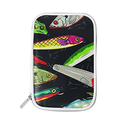ADKing Federmäppchen, bunt, Meeresfisch-Aufdruck, Reißverschluss, große Kapazität, Stifteetui für Make-up und Pinsel