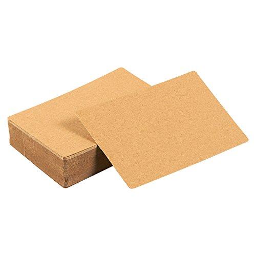 Juvale Blank Scratch Paper Flash Cards (3.3 x 5.2 in, 100 Pack)