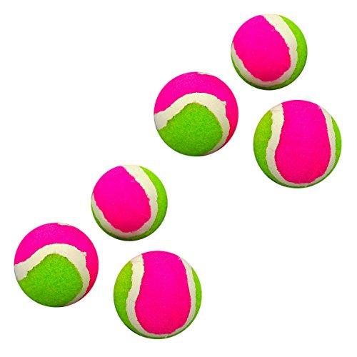 Land-Haus-Shop® Mini Tennisball Ersatzbälle für Klettscheibe Klettspiel Ball Wurfscheibe (6 Stück Ersatzbälle)