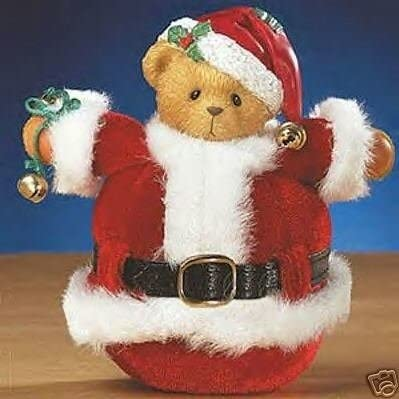 Cherished Teddies Roly Poly Superlatite Beauty products Santa Figurine in A Tumble t Carlton