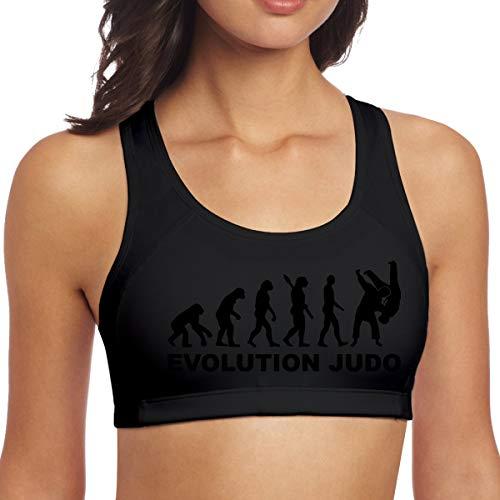 Hangdachang Sujetadores Deportivos para Mujer,Evolution Judo,Workout Yoga Gym Activewear Fitness Tank Top M