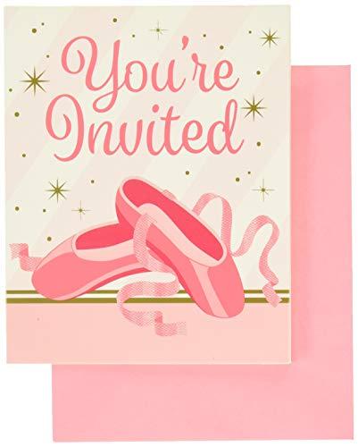Creative Converting - Partyeinladungen in rose, Größe 5 x 4