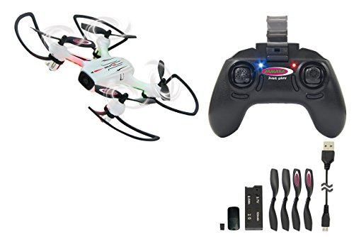 JAMARA 422027 - Angle 120 WideAngle Drone Altitude HD FPV Wifi 2,4 - 120° Weitwinkel Wifi FPV HD Kamera (720p) mit Photo-/Videofunktion, wechselbarer 4 GB Micro SD-Karte Altitude Hold Adjustment