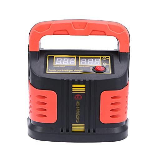 VILLCASE Cargador de Batería Inteligente para Coche 12- 24V 350W Cargador de Batería Automático Digital para Motocicleta