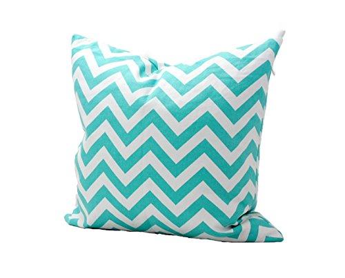 outflower funda de almohada diseño de ola cian y blanco zig-zag estampado funda de cojín impresos/dormitorio/salón/oficina/coche/Sofá 40* 40cm)