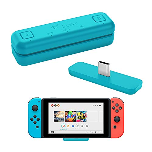 Gulikit Route Air Bluetooth Audio USB Transceiver Adapter Compatible with Nintendo Switch/Switch Lite / PS4 / PC, 5mm, Lag Free, Plug and Play, Blue