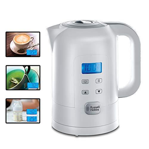 Russell Hobbs Wasserkocher Precision, 1,7l, 2200W, digitale Temperatureinstellung & LCD Anzeige, 25°-100°C einstellbar für die Zubereitung von Babynahrung & Tee, Warmhaltefunktion, Teekocher 21150-70
