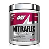GAT Sport, NITRAFLEX Testosterone Boosting Powder, Increases Blood Flow, Boosts Strength and Energy, Improves Exercise Performance, Creatine-Free (Fruit Punch, 30 Servings)