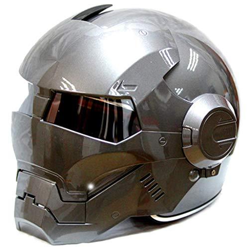 NNYY Iron Man Motorradhelm Integralhelm Flip-up-Transformator D. O. T Integrierte Helm Zertifikat Weinles,D,M