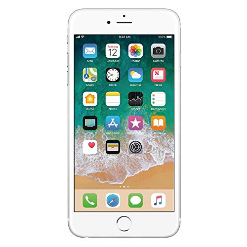 Apple iPhone 6s Plata 128 GB (Renewed)