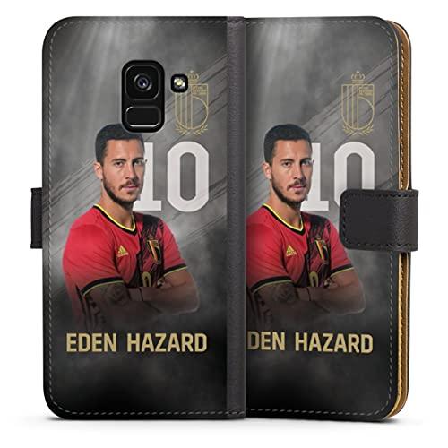 DeinDesign Klapphülle kompatibel mit Samsung Galaxy A8 Duos 2018 Handyhülle aus Leder schwarz Flip Hülle Fußballspieler Belgien RBFA