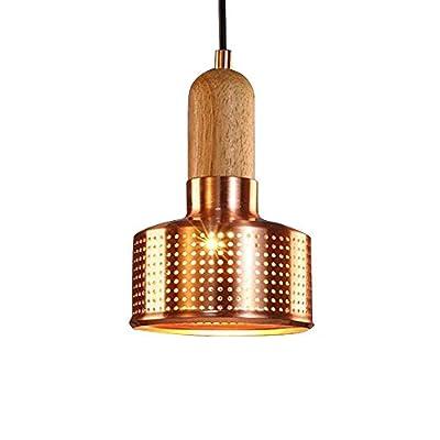 FOSHAN MINGZE Industrial Retro Pendant Light Copper Finished Chandelier Ceiling Light Fixture for Dining Room/Kitchen/Cafe/Restaurant/Bar/Loft