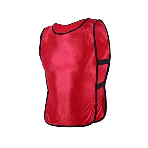 Niiyen Gilet da Esterno Resistente, Gilet Gilet da Bambino in 5 Colori con Elevato Comfort e Forte selettività per l'allenamento Sportivo di Calcio(Rosso)