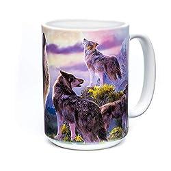 The Mountain Unisex-Adult's Wolpack Moon Coffee Mug, White, 15 oz