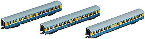Arnold HN4182 3-TLG. Set S-Bahn Leipzig der DR, Ep. IV Modellbahn, Blau gelb