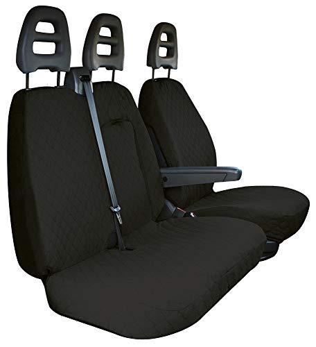 CORA 001702563 stoelhoezen voor transporter, kopes zwart