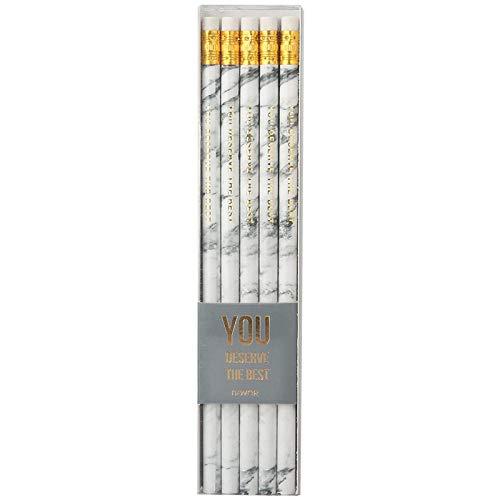 Marmor Bleistift Grundschüler Schreiben Test Mit Radiergummi RundstabHbBleistifte10Boutique Geschenkbox10Er Pack