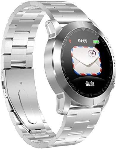 ZHENAO Fitness Tracker S10 Smart Business Pulsera/Monitoreo de Ritmo Cardíaco Pulsera Sports Watch una Variedad de Relojes de Monitoreo Deportivo Pantalla Táctil Impermeable Bluet
