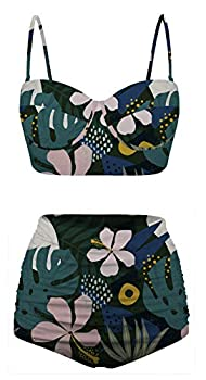 Angerella Beachwear for Women Tankini for Curvy Women Strap Sling Swim Suit Cute Bathing Suit X-Large