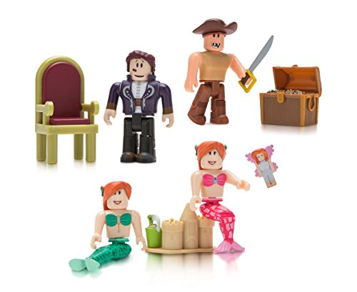 Roblox Celebrity Collection - Neverland Lagoon Four Figure Pack [Includes Exclusive Virtual Item]