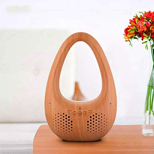 DAMAI STORE GHYY Smart Speaker And CD Player??Portable Audio??Wireless Bluetooth Speaker Phone, Mini Stereo Subwoofer-Bamboo Pattern_246 * 132MM??With Alexa Voice And Bluetooth??