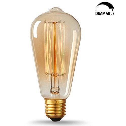Vintage Lampadina incandescenza 40W ST64 Dimmerabile E27 Edison Lampadina Retro Stile Lampada Decorativa di KJLARS