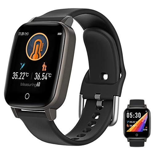 Willful Smartwatch,1.3 Zoll Touch-Farbdisplay Fitness Armbanduhr Mit Pulsuhr Fitness Tracker IP67 Wasserdicht Sportuhr Smart Watch Mit Schrittzähler,Schlafmonitor,Stoppuhr Für Damen Herren,Schwarz