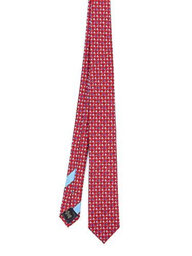 Ermenegildo Zegna Luxury Fashion Herren Z7W011L7M Rot Seide Krawatte | Frühling Sommer 20
