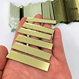 Rectangular 3/8' x 2' Mirror Mosaic Tiles Gold Colored Craft Mirror Pieces (Pack of 100)