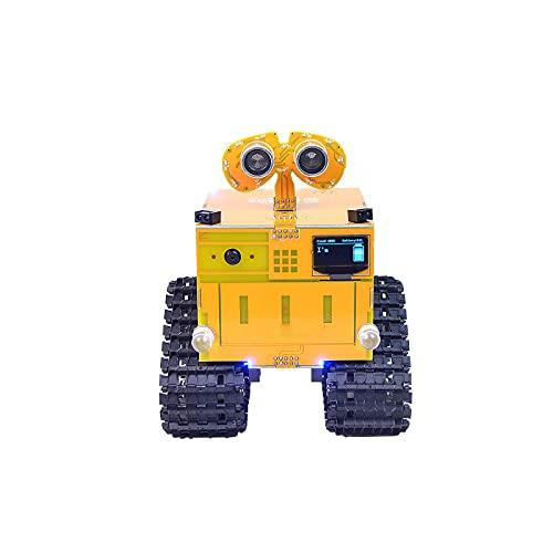No application Robot tecnológico avanzado WuLiBot Sensor de coche Tracing Robot programable Distancia de rastreo de coche Detección ultrasónica WIFI Control remoto Robot programable