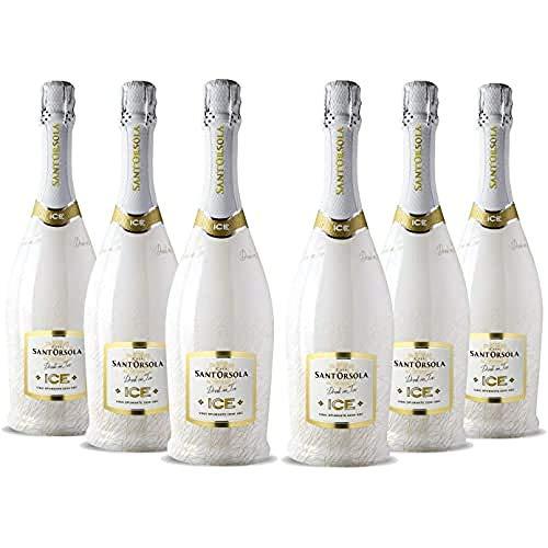 Sant\'Orsola ICE Demi-Sec Schaumwein 6 Flaschen Champagner (6 x 0.75 l)