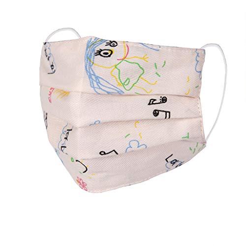 PPangUDing Kinder Mundschutz Waschbar Wiederverwendbar Baumwolle Atmungsaktive Staubdicht mit Motiv Bunt Multifunktional Schlauchschal Halstuch für Junge und Mädchen