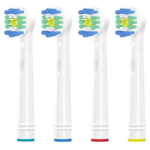 Wyfun Ersatzbürstenköpfe für Oral-B, Ersatzbürstenköpfe für Oral-B 3D weiße elektrische Zahnbürste, poliert zum Entfernen von Flecken für weißere Zähne