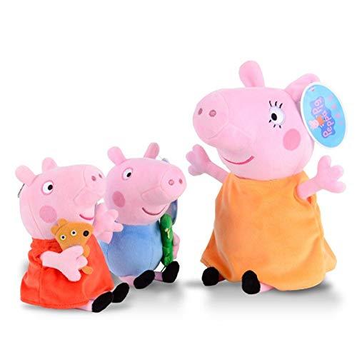 Un conjunto de nuevos muñecos de peluche de cerdo Peppa para una familia de cuatro pepe pig rosa regalo para niños 30 cm