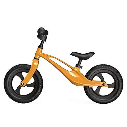 ANQIBIKE Balance Bike, Staffa in Lega di Magnesio Senza Pedale Versione Competitiva Adatta for Bambini di 3-6 Anni (5 Colori) ( Color : Gold )