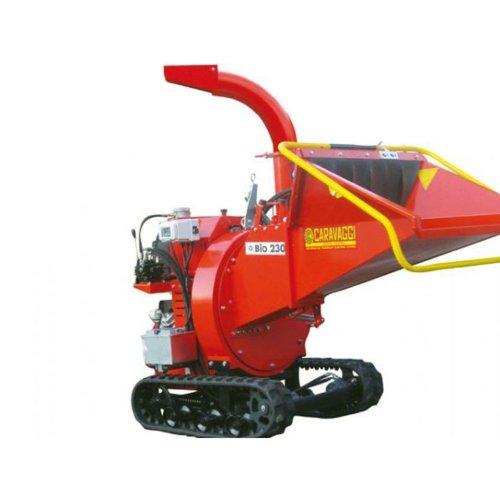 Caravaggi Triturador térmico Bio 230H TN–Honda GX620Pro–diámetro 12cm–Sobre orugas