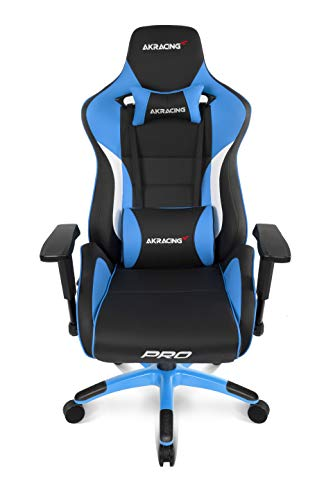 AKRACING Gaming Chair Gamingchair, PU-Kunstleder, Master Pro Bigger Schwarz/Blau, Breit