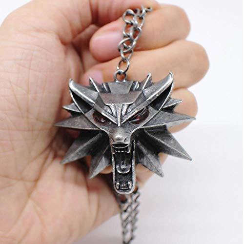 GHJL The Witcher 3 Anhänger Halskette Tierkopf Halskette Großhandel Tanzparty Geburtstagsgeschenk