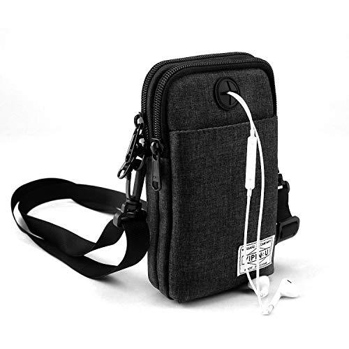 AIYUE Umhängetasche Gürteltasche Wander Hüfttaschen Casual Tasche Wasserdicht Schultertasche Hüfttaschen Handytasche Taille Tasche für Herren und Damen (Schwarz)