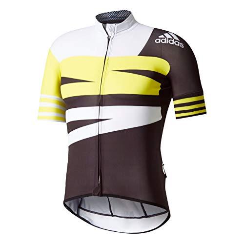 adidas Herren Adistar Trikot, Black/White/Yellow, M