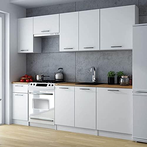 Cuisine complète 240 cm Lila Blanc Moderne et Design