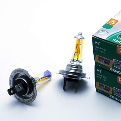 XENCN Premium-LED-Halogenlampen H7 55 W, 2 Stück, Golden Eyes (unglaubliches gelbes Licht)